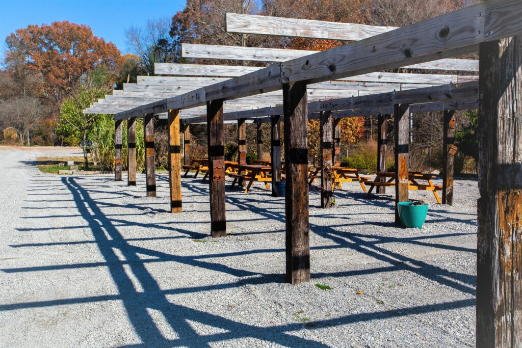 Pergola at Twin H Tree Farms